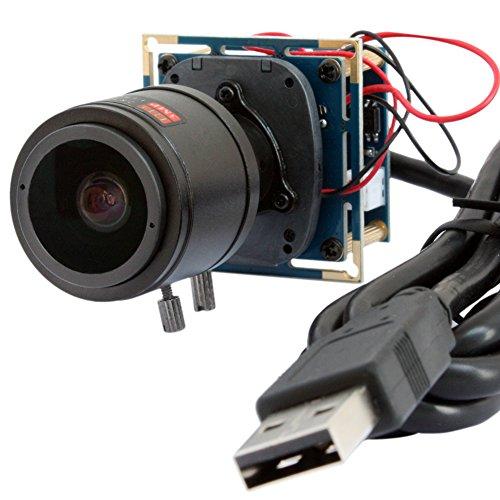 ELP 1080P 2.0Megapixel USB-Kamera-Modul mit IR-Cut für Android Windows Linux und Mac OS (2.8-12mm Vario-Objektiv)