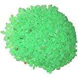 """25kg Dyed Green Florocent Gravel """"B"""" Size Pebbles For Garden Decor Plant Home Decor Backyard Patio Pathway Indoor And Outdoor Gravel Soil Stone Pebbles Chips Decoration Fish Tank Substrate"""