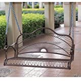 Sun Ray Porch Swing in Wrought Iron