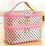 Popular Cosmetic Cute Package Make Up Waterproof Dots Storage Bags Practical