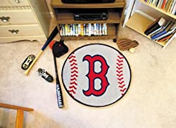 "Boston Red Sox 29"" Round Baseball Floor Mat (Rug)"