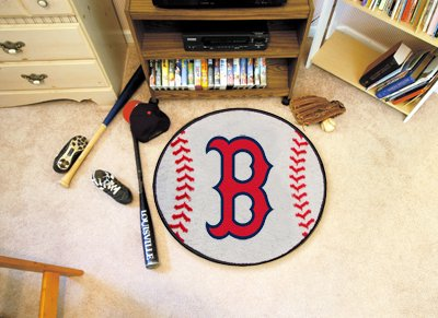 Fanmats Boston Red Sox Baseball Mat - Boston Red Sox One Size