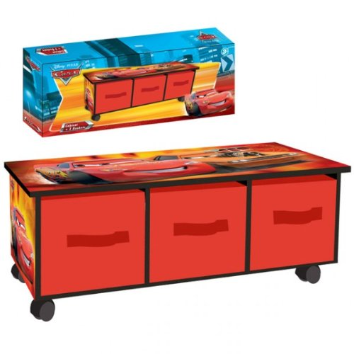 aufbewahrungskiste disney cars kinderm bel kinderregal mit. Black Bedroom Furniture Sets. Home Design Ideas