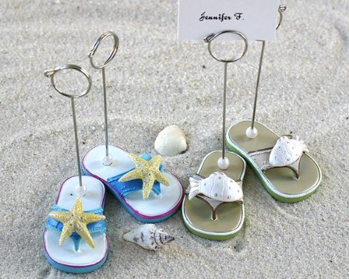 One Dozen Pairs of Beach Flip Flop Place Card Holders for Wedding Gift or Party Favors