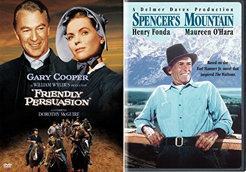 Spencer's Mountain & Friendly Persuasion Dvd The West Set Henry Fonda + Gary Cooper