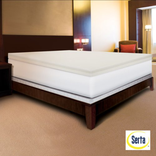 Serta Rejuvenator Dual-layer 4-inch Memory Foam Mattress Topper in Cal King
