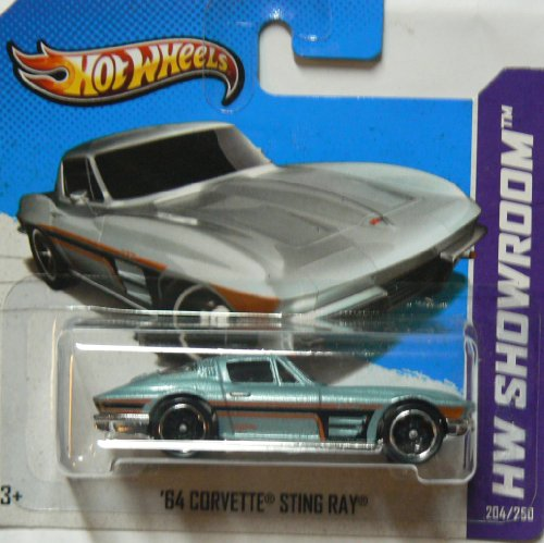 Hot Wheels 2013 Hw Showroom '64 Corvette Sting Ray 204/250 on Short Card - 1