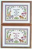 Safari Cross Stitch Birth Sampler Kit