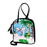 Kissing the Frog Cross Body Bag, Art Bag, Eco Bag ~ Eco Art Productions