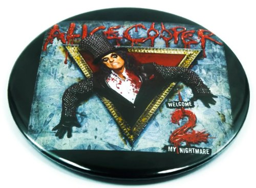 """Alice Cooper Fan (3) Awesome 3-In-1 Features Jumbo 3.75"""" Pin Stand Button Badge"""