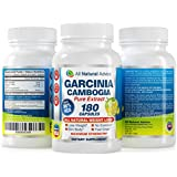 All Natural Advice Garcinia Cambogia Extract with Pure 80% HCA 1400 Mg Servings 180 Weight Loss Capsules