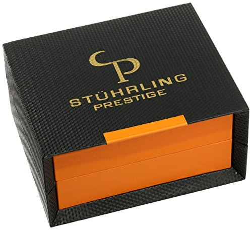 Stuhrling Prestige Men's 307L.334K2 Prestige 16k Rose Gold-Layered Watch with Brown Leather Band