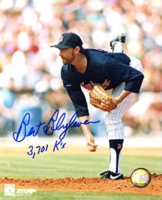 "Bert Blyleven (HOFer) Autographed/ Original Signed 8x10 Color Photo With ""3701 K's"" Inscription Showing Him with the Minnesota Twins - His First Team in the 1970s"