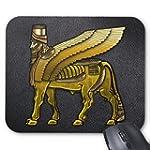 Babylonian Winged Bull Lamassu Mousepad