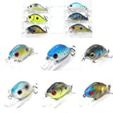6 Hard Baits Fishing Lures Plus A Free Tackle Box C564K