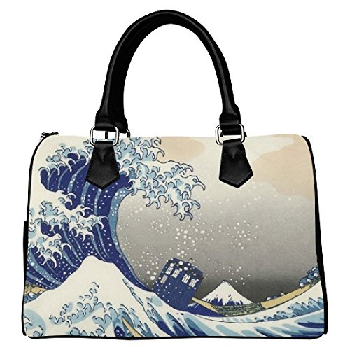 iHomeStore Custom Doctor Who Leather Canvas Handbag /Tote Bag /Shoulder Bag for Women(Twin Sides)