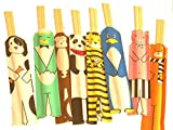 DCI Zoo Animal Wooden Chopsticks (Set/8)