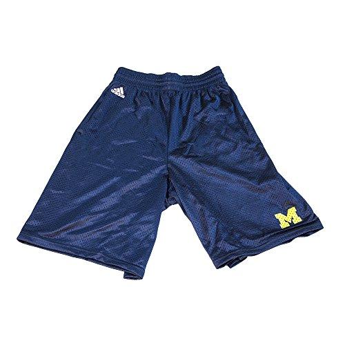 Adidas Michigan Wolverines Navy Blue Basic Mesh Shorts