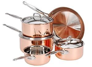 Copper Pots And Pans Set Cookware Set Pots De Buyer
