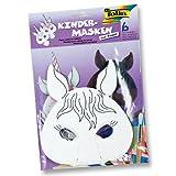 Kindermaske 6ST Pferd/ Einhorn von Creativ Discount