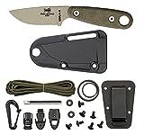 ESEE Knives Izula II Desert Tan Knife with Survival Kit