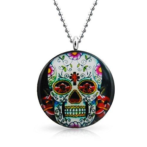 Bling Jewelry Acciaio inossidabile Zucchero Cranio Collana sfere 2mm catena 18a