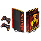 Designer Decal for Sony PlayStation PS3 Super Slim System and 2 Remote Controllers - Meltdown