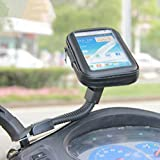L Size Motorcyle Scooter Electric Car Rearview Mirror Mount Holder Stand Bag Phone GPS Case for iPhone6 6S Note3/4 S5/6 J A7/8