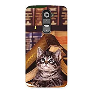 Ajay Enterprises BlackCat with Book Back Case Cover for LG G2