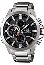 Casio - Edifice - Stainless Steel Smartphone Link Dual World Time Watch - ECB-500D-1A
