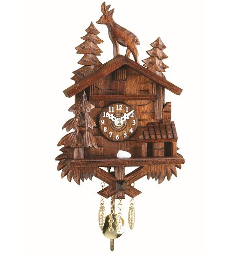 Kuckulino Black Forest Clock with quartz movement and cuckoo chime, incl. batterie TU 2028 PQ