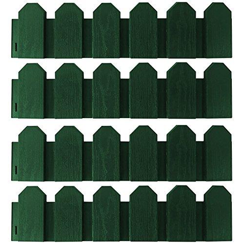 Mini Clôture pour jardin - 4 pièces - 2,4 m - Mini...