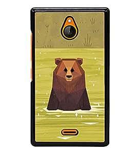 Bear in River 2D Hard Polycarbonate Designer Back Case Cover for Nokia X2 Dual SIM :: Nokia X2 RM-1013 :: Nokia X2DS