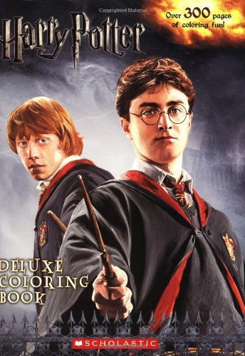 Harry Potter Book Movie : Harry potter deluxe coloring book