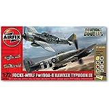 Airfix 1:72 Focke Wulf Fw190A-8 and Hawker Typhoon Ib Dogfight Doubles Gift Model Set