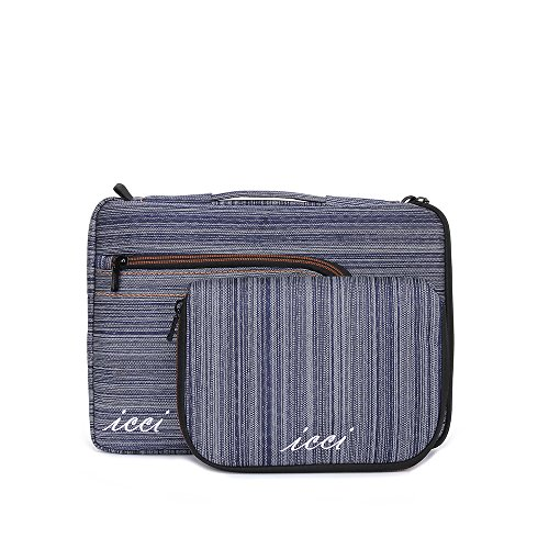 icci ShockProof Sleeve Custodia Borsa a tracolla Per PC portatili 35,8 cm (14 Pollici) Netbook / Laptop / Notebook Computer / Chromebook - Blu