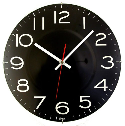 Timekeeper Products LLC 11-1/2-Inch Round Black Clock