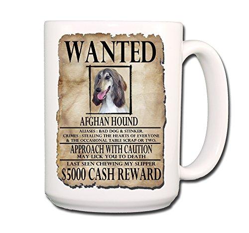 Afghan Hound Wanted Poster Coffee Tea Mug 15 oz Funny