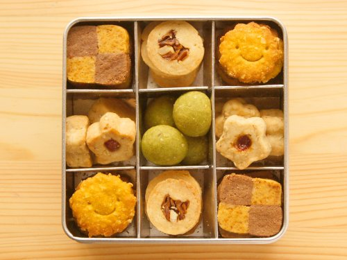 笑顔の無添加*野菜大豆粉クッキー/Lucky☆幸運を呼ぶグリーンクッキー缶♪