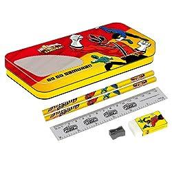 Power Rangers Compass Box, Red/Yellow (Design 1)