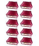 Fashion Bizz 10 Maroon Saree Covers