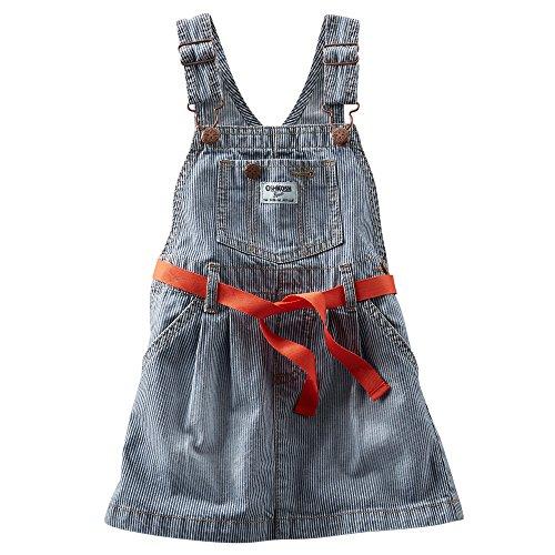 Osh Kosh Girls Hickory Striped Jumper Dress (24 Months, Blue)