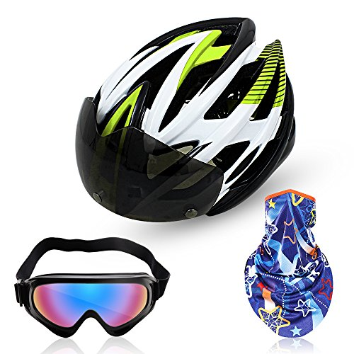 Magnetic-Goggles-Helmet-Fivanus-Adult-Cycling-Helmet-Ultralight-Breathable-and-Shockproof-Mountain-Bike-Helmet-UV-Protection-Outdoor-CS-Bicycle-Goggles-Glasses-Multifunctional-Sport-Bandanas