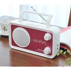 キュリオム(Qriom) カラフルラジオ(AMラジオ/FMラジオ) ピンク YCR-75(P)