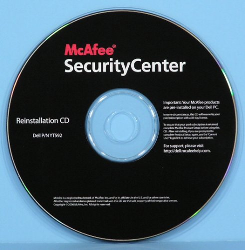 Buy Best McAfee SecurityCenter Reinstallation Disk for DELL