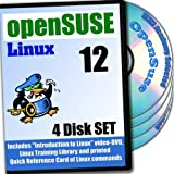 OpenSuse 12.3 Linux, 4-disks DVD Installation and Reference Set, Ed. 2013