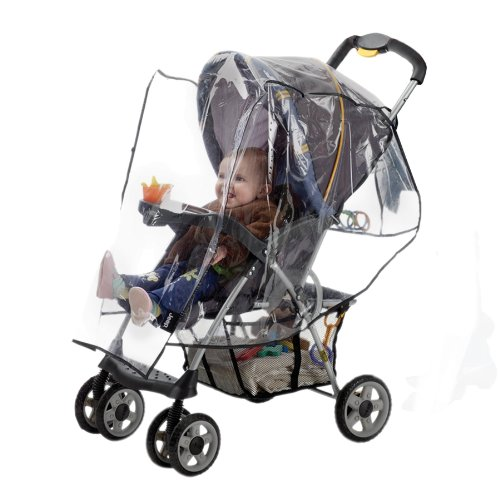 Jeep Standard Stroller Weather Shield, Single Stroller Cover, Baby Weather Protector, Plastic, Clear - 1