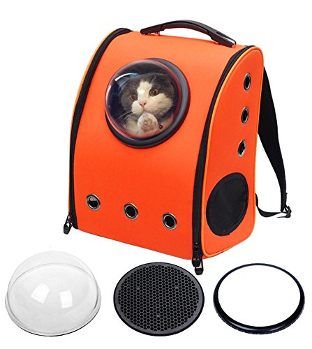 Lovely summer Pet Dog Cat Puppy Carrier Traveler Bubble Backpack Travel Shoulder Bag Dog Carrier Travel Sling Bag Small Dog Backpack Red