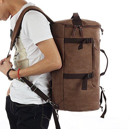 Grand sac à dos / toile de capacité / extérieur / sac à main / hommes occasionnels sac / sac de messager de sac-brun 1 Gros