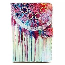 Noarks-GeBox(TM) iPad Mini 2 Book Folio Flip Stand Style Cute Colored Painting Protective Skin Leather Cover Case for iPad Mini / iPad Mini with Retina (Cute Dream Catcher)